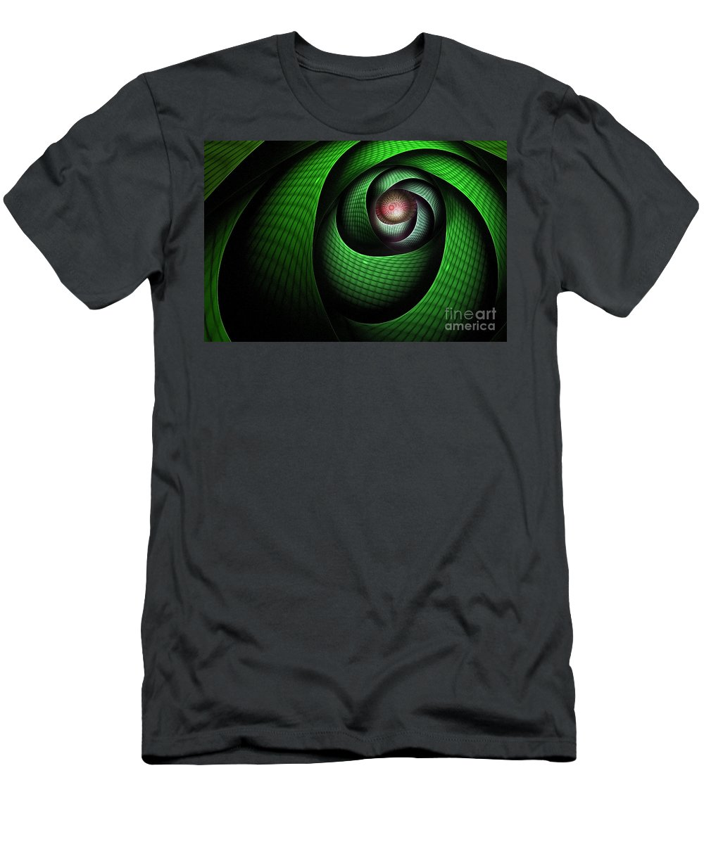Dragon Men's T-Shirt (Athletic Fit) featuring the digital art Dragons Eye by John Edwards