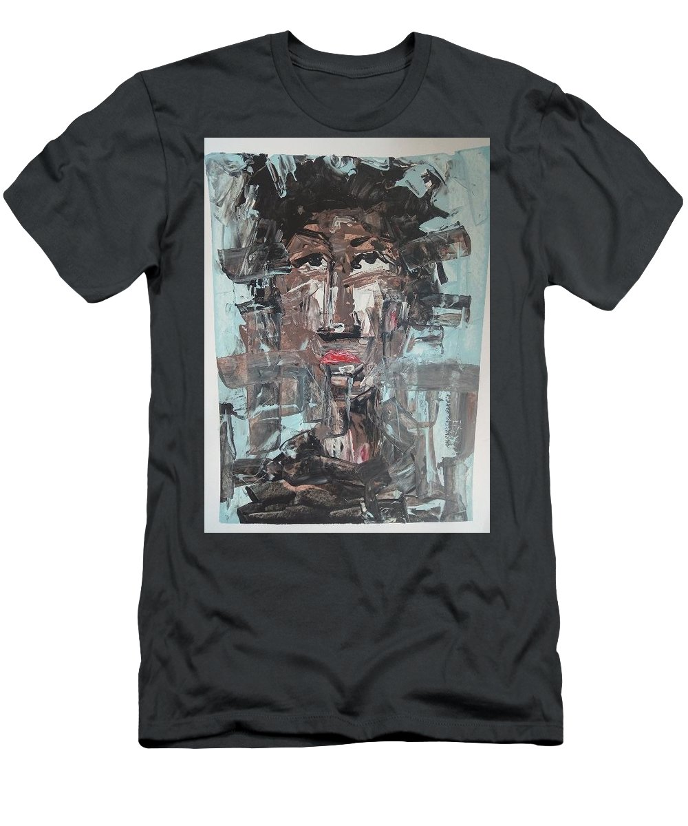 Portrait Men's T-Shirt (Athletic Fit) featuring the painting Dream On by Samuel Aikins