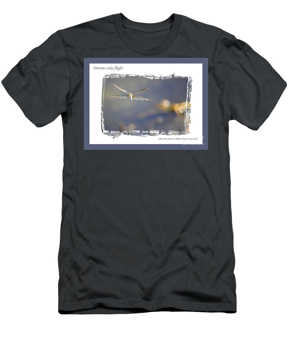 Greeting Cards Men's T-Shirt (Athletic Fit) featuring the photograph Dreams Take Flight Poster Or Card by Carol Groenen