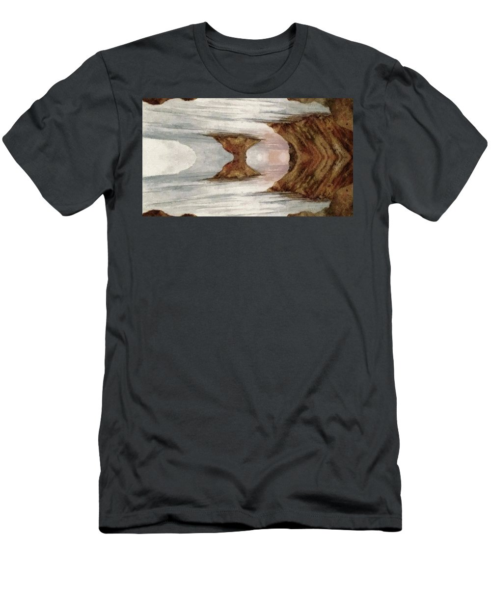 Dreams Men's T-Shirt (Athletic Fit) featuring the painting Dreamscape by Michael Vigliotti