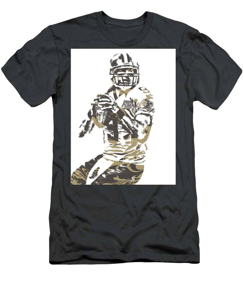 36a0eda0d Drew Brees Men's T-Shirt (Athletic Fit) featuring the mixed media Drew Brees
