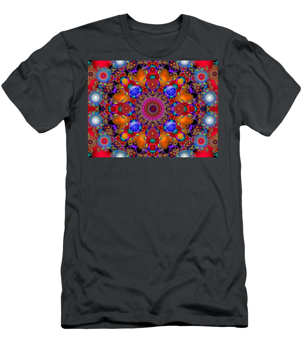 Colorful Men's T-Shirt (Athletic Fit) featuring the digital art Drifting Away by Robert Orinski