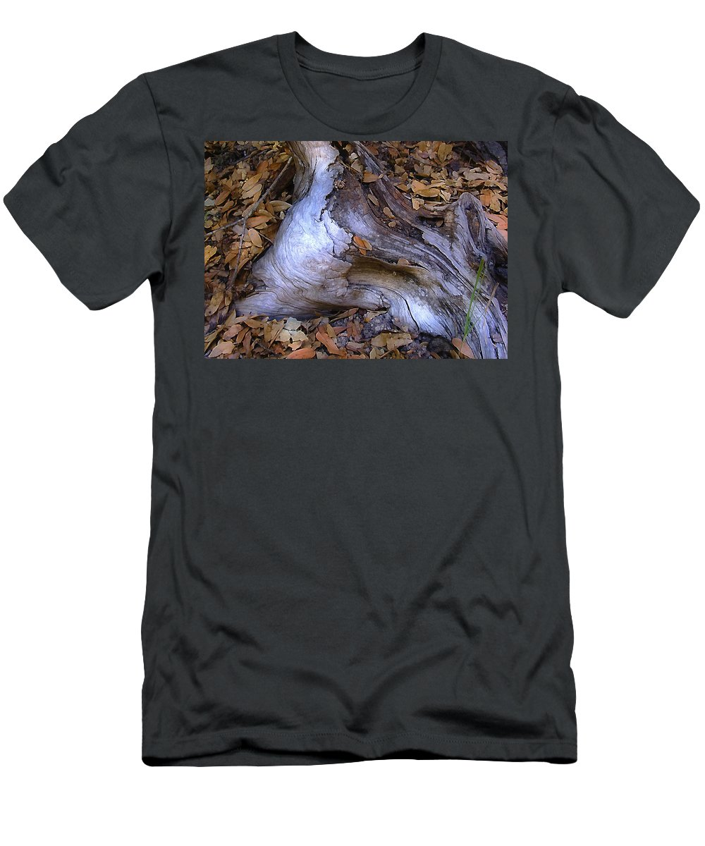 Landscape Men's T-Shirt (Athletic Fit) featuring the photograph Driftwood In Lahonda by Karen W Meyer