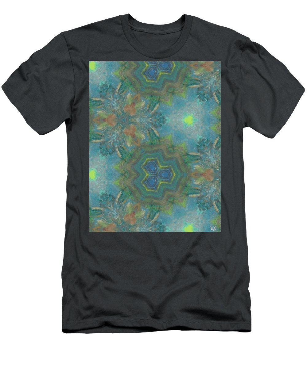 Acrylics Men's T-Shirt (Athletic Fit) featuring the mixed media Drinking The Nectar Of Life by Maria Watt