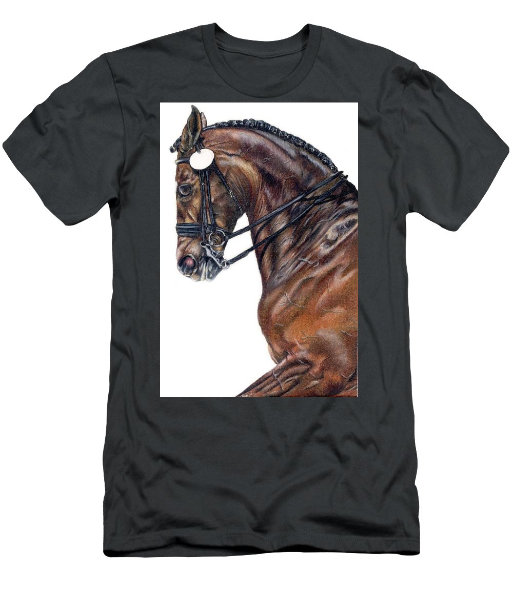 Horse Men's T-Shirt (Athletic Fit) featuring the drawing Driven by Kristen Wesch