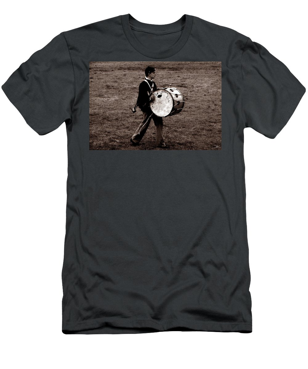 Drummer Boy Men's T-Shirt (Athletic Fit) featuring the painting Drummer Boy by David Lee Thompson