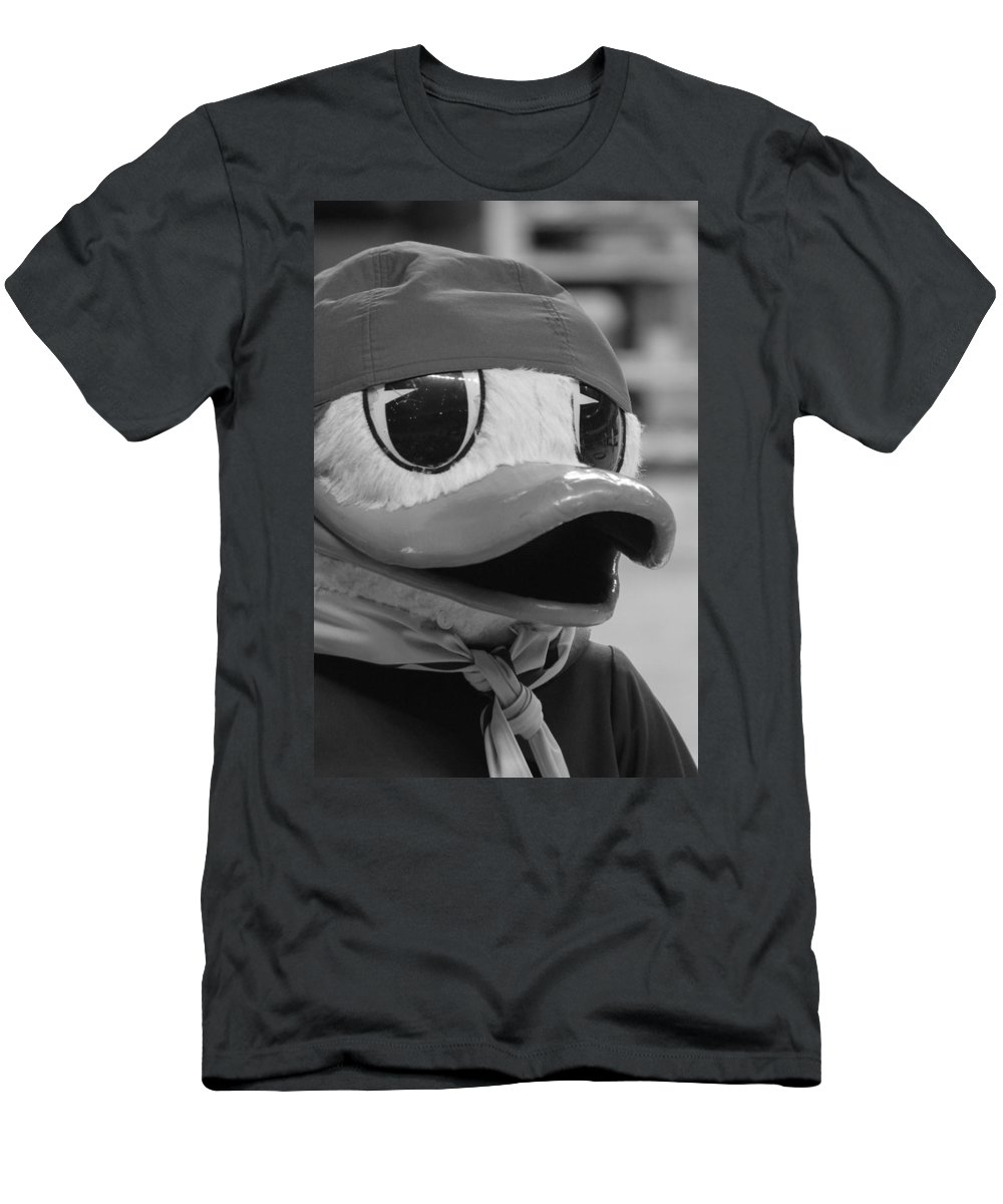Duck Men's T-Shirt (Athletic Fit) featuring the photograph Ducking Around by Laddie Halupa