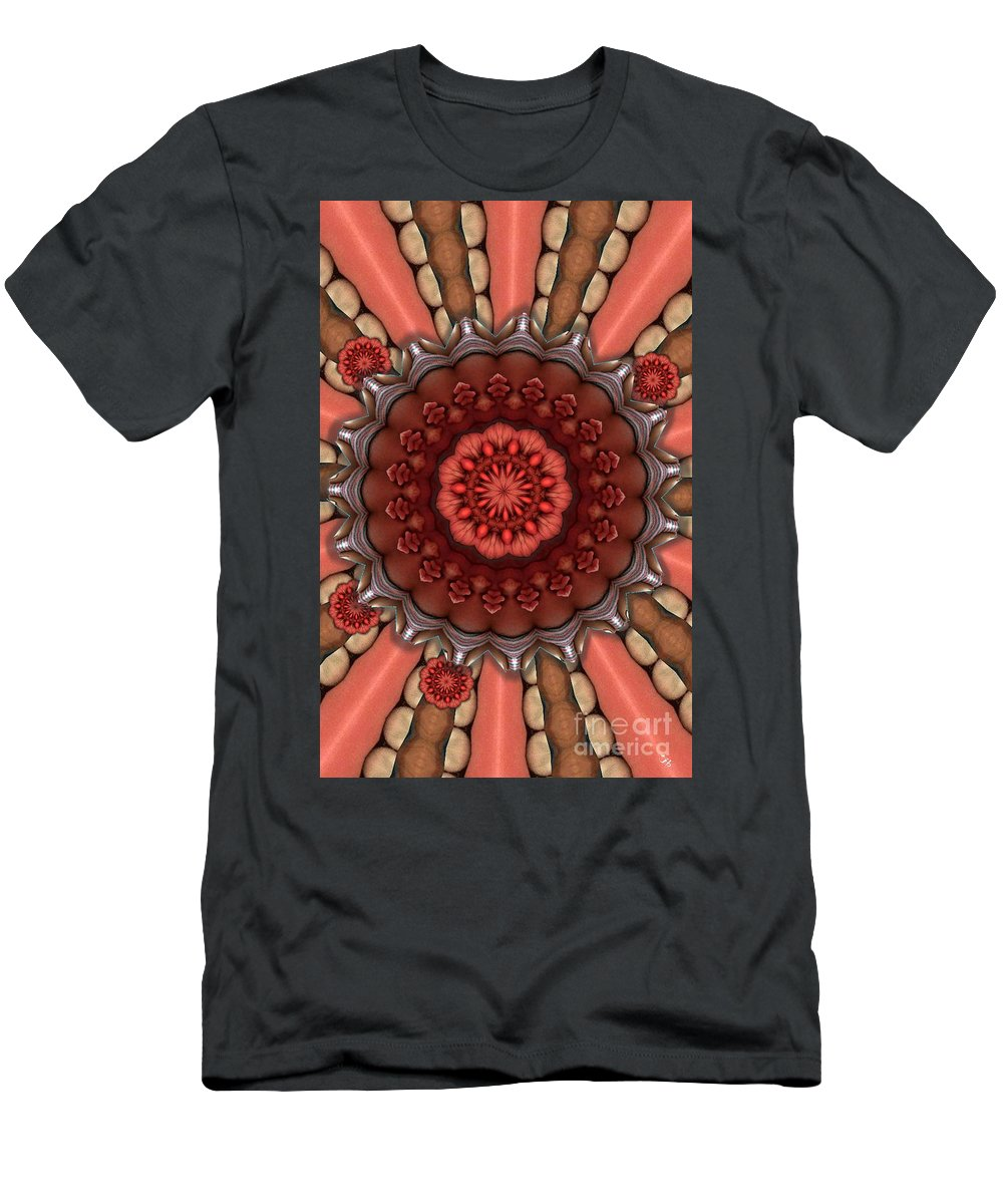 Abstract Men's T-Shirt (Athletic Fit) featuring the digital art Dumpster To Lily Pads by Ron Bissett