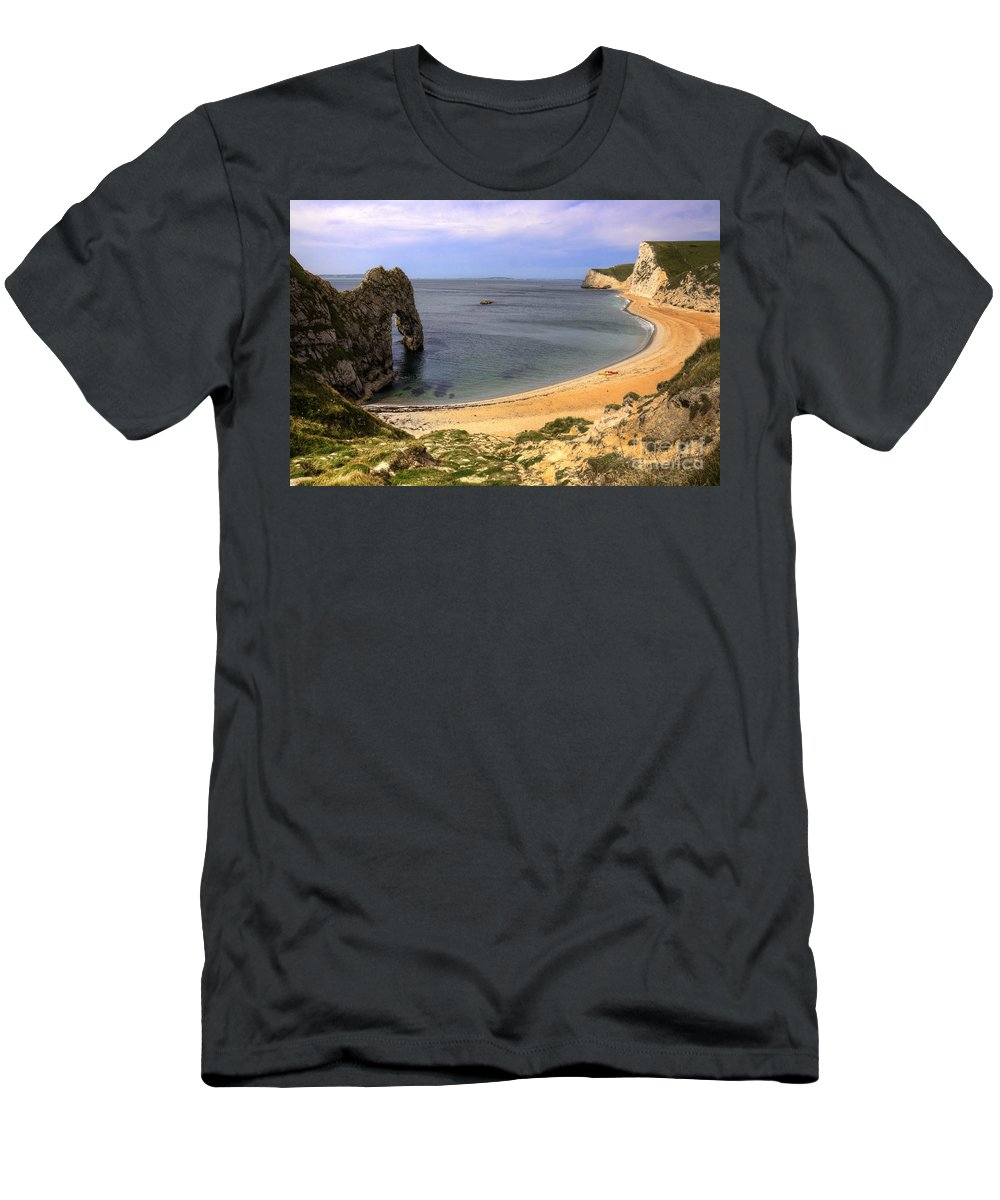 Durdle Men's T-Shirt (Athletic Fit) featuring the photograph Durdle Door by Rob Hawkins