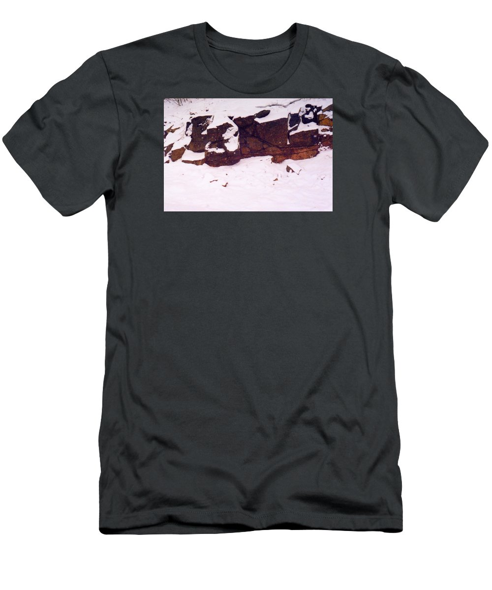 Abstract Men's T-Shirt (Athletic Fit) featuring the photograph During The Snow Fall by Lyle Crump