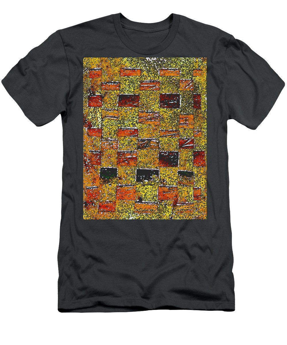 Weaving Men's T-Shirt (Athletic Fit) featuring the painting Earths Tapestry by Wayne Potrafka