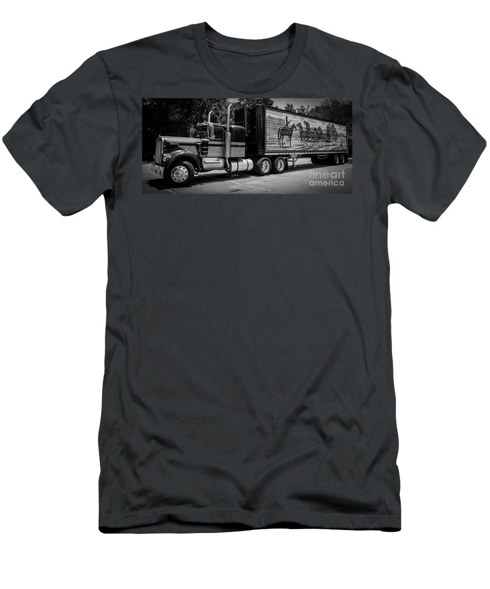 Smokey And The Bandit Men's T-Shirt (Athletic Fit) featuring the photograph East Bound And Down by Dale Powell