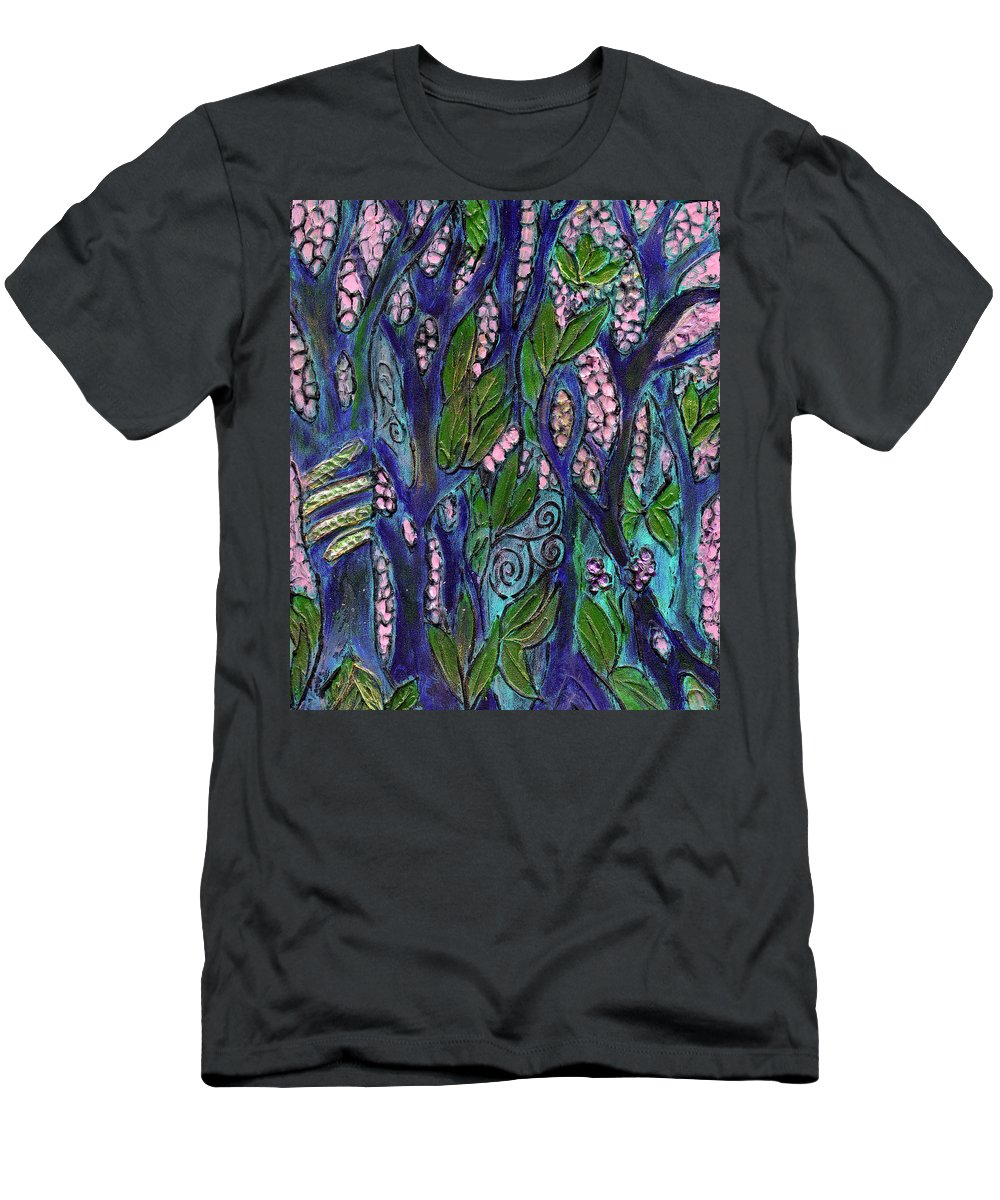 Garden Of Eden Men's T-Shirt (Athletic Fit) featuring the painting Eden by Wayne Potrafka