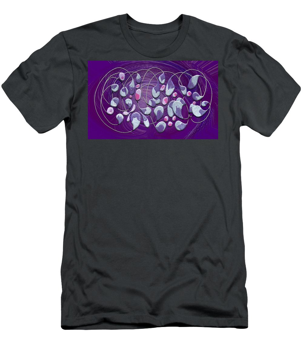 Abstract Men's T-Shirt (Athletic Fit) featuring the digital art Egg Plants by Mark Sellers