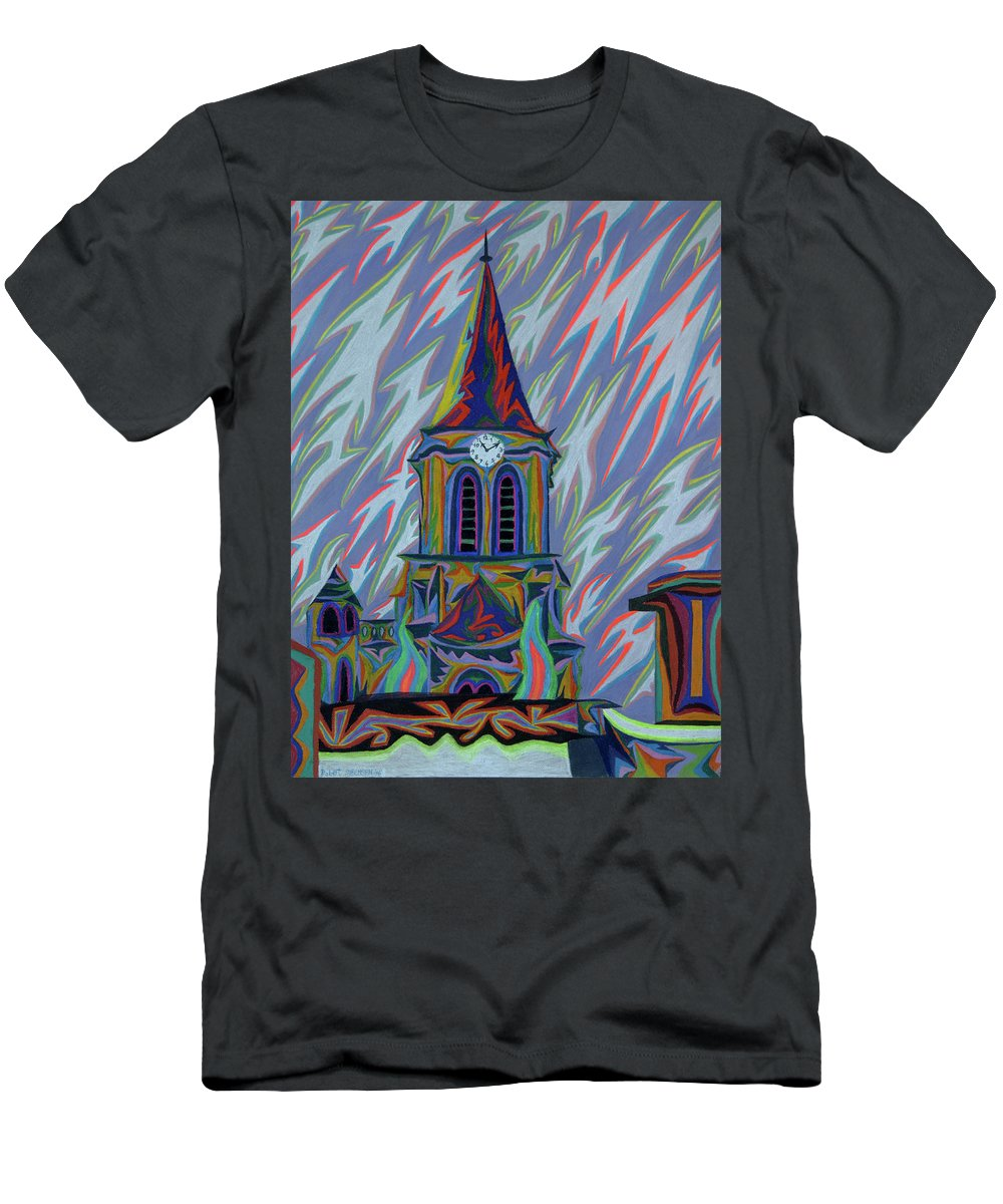 Church Men's T-Shirt (Athletic Fit) featuring the painting Eglise Onze - Onze by Robert SORENSEN