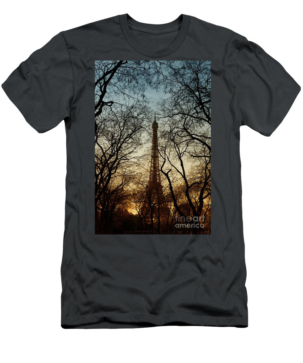 Eiffel Men's T-Shirt (Athletic Fit) featuring the photograph Eiffel Tower-7 by Milind Ketkar
