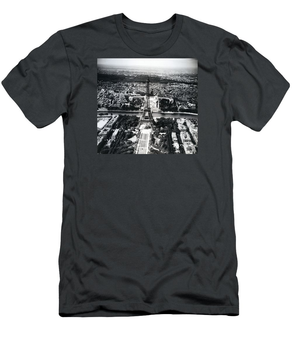 Paris Men's T-Shirt (Athletic Fit) featuring the photograph Eiffel Tower Paris In Wwii by Rachel Knight