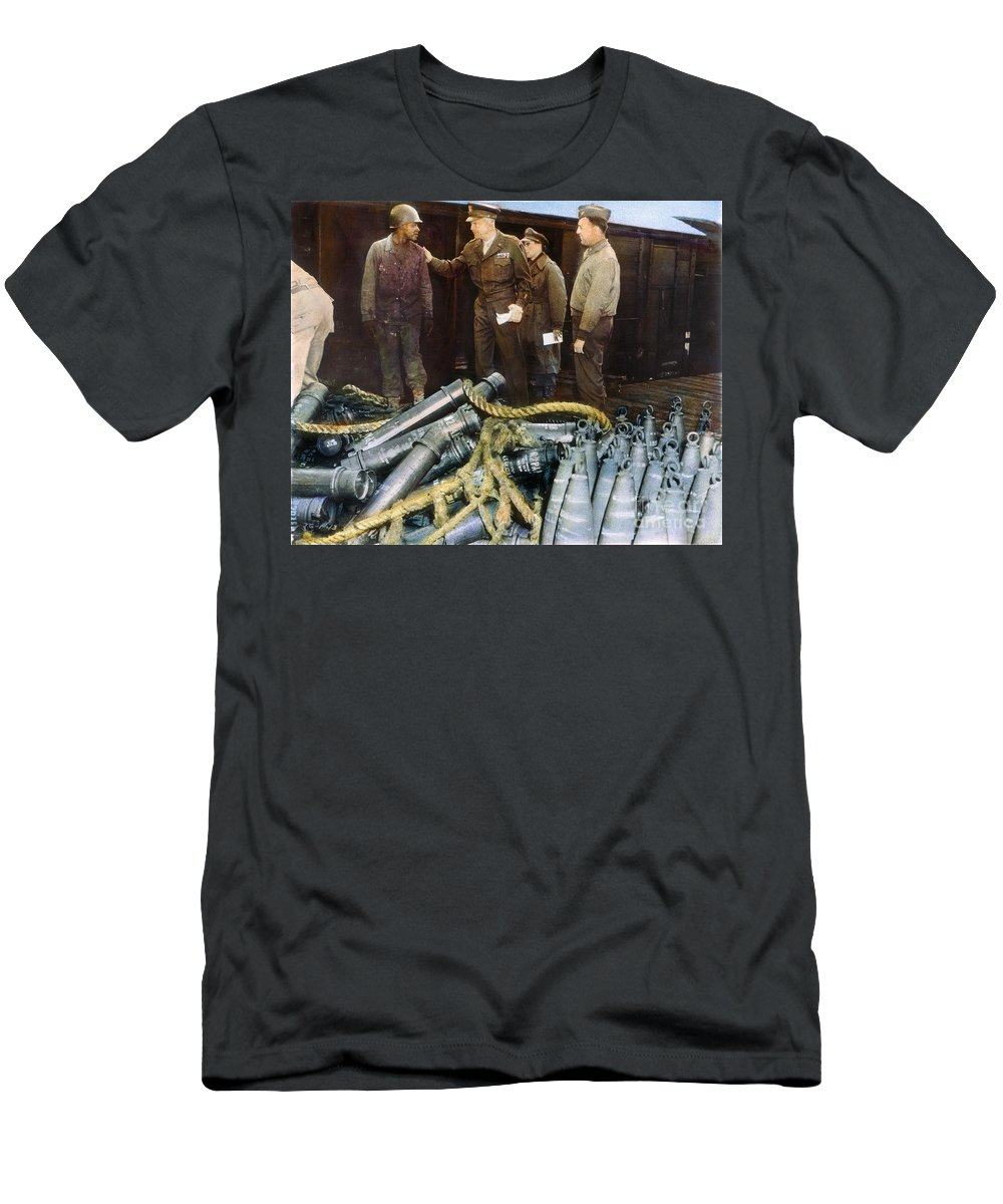 1944 Men's T-Shirt (Athletic Fit) featuring the photograph Eisenhower: Wwii, C1944 by Granger