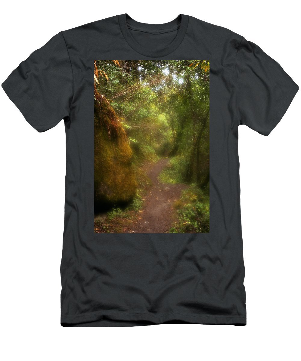 Path Men's T-Shirt (Athletic Fit) featuring the photograph El Camino by Patrick Klauss