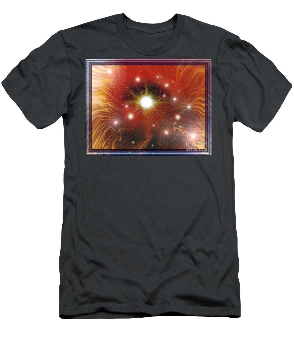 Red Sun T-Shirt featuring the digital art Electra of RAA by Leonard Rubins