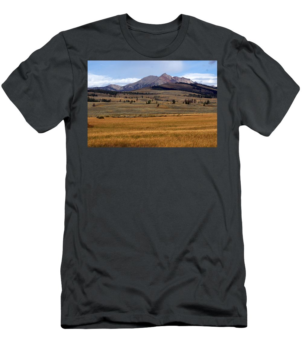 Yellowstone National Park Men's T-Shirt (Athletic Fit) featuring the photograph Electric Peak 2 by Marty Koch