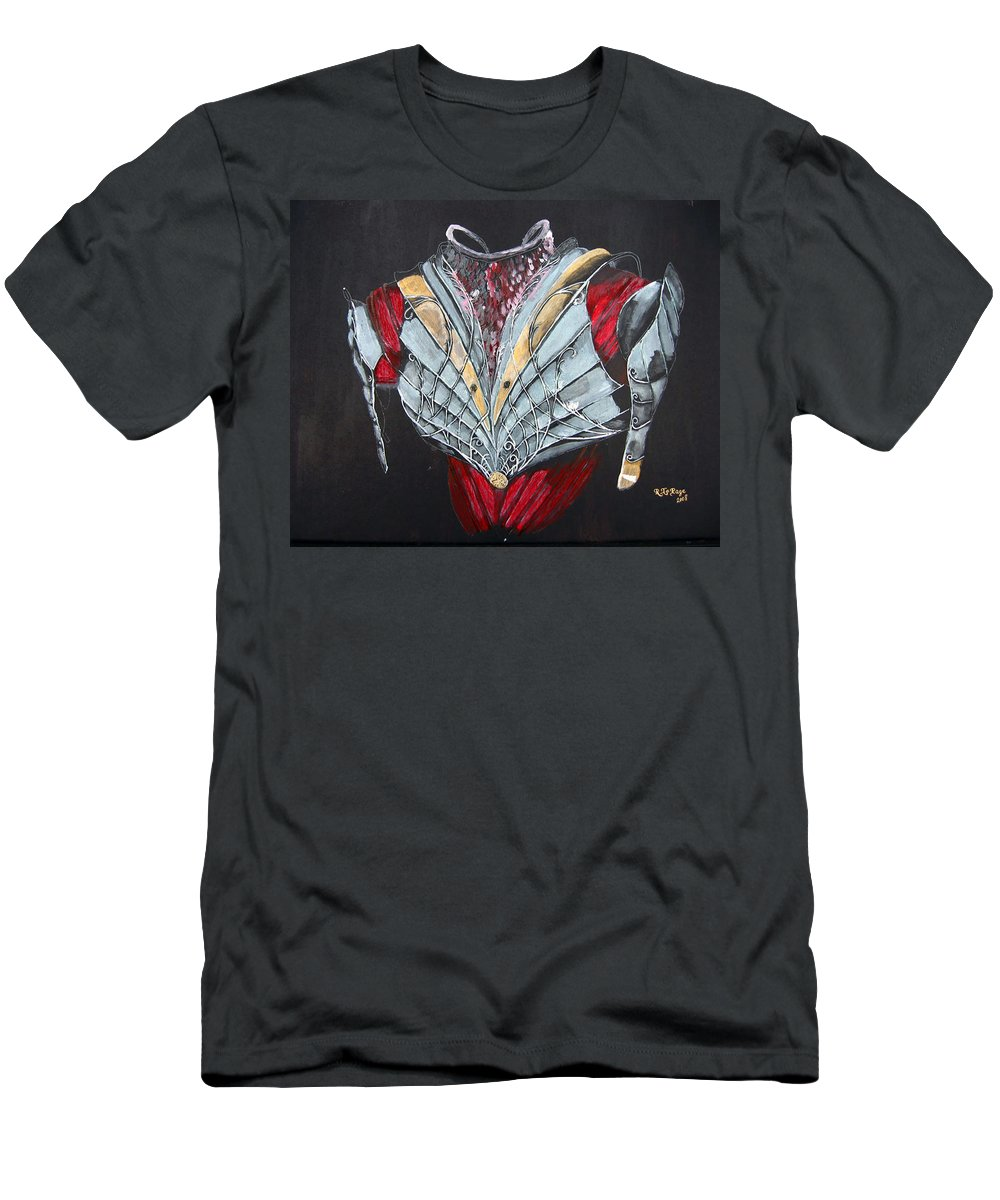 Elven Armor Men's T-Shirt (Athletic Fit) featuring the painting Elven Armor by Richard Le Page