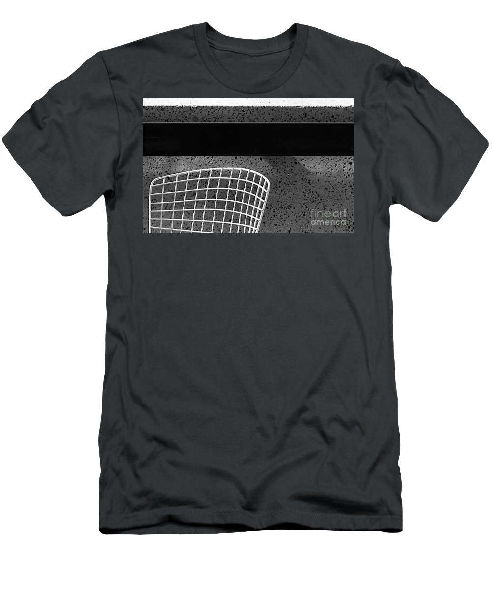 Cityscapes Men's T-Shirt (Athletic Fit) featuring the photograph Embarcadero Chair by Norman Andrus