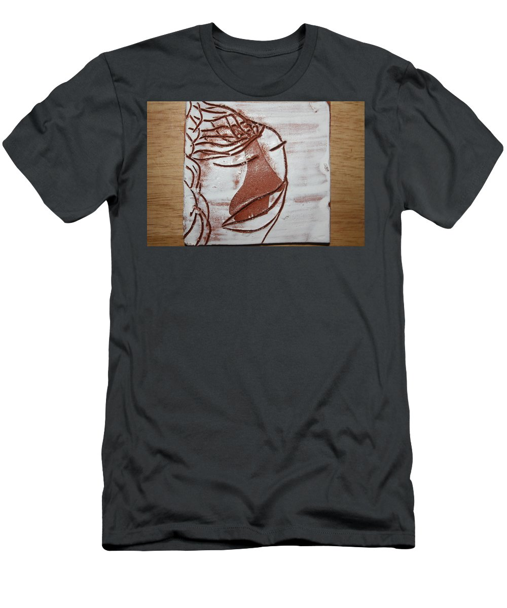 Jesus Men's T-Shirt (Athletic Fit) featuring the ceramic art Emmett - Tile by Gloria Ssali