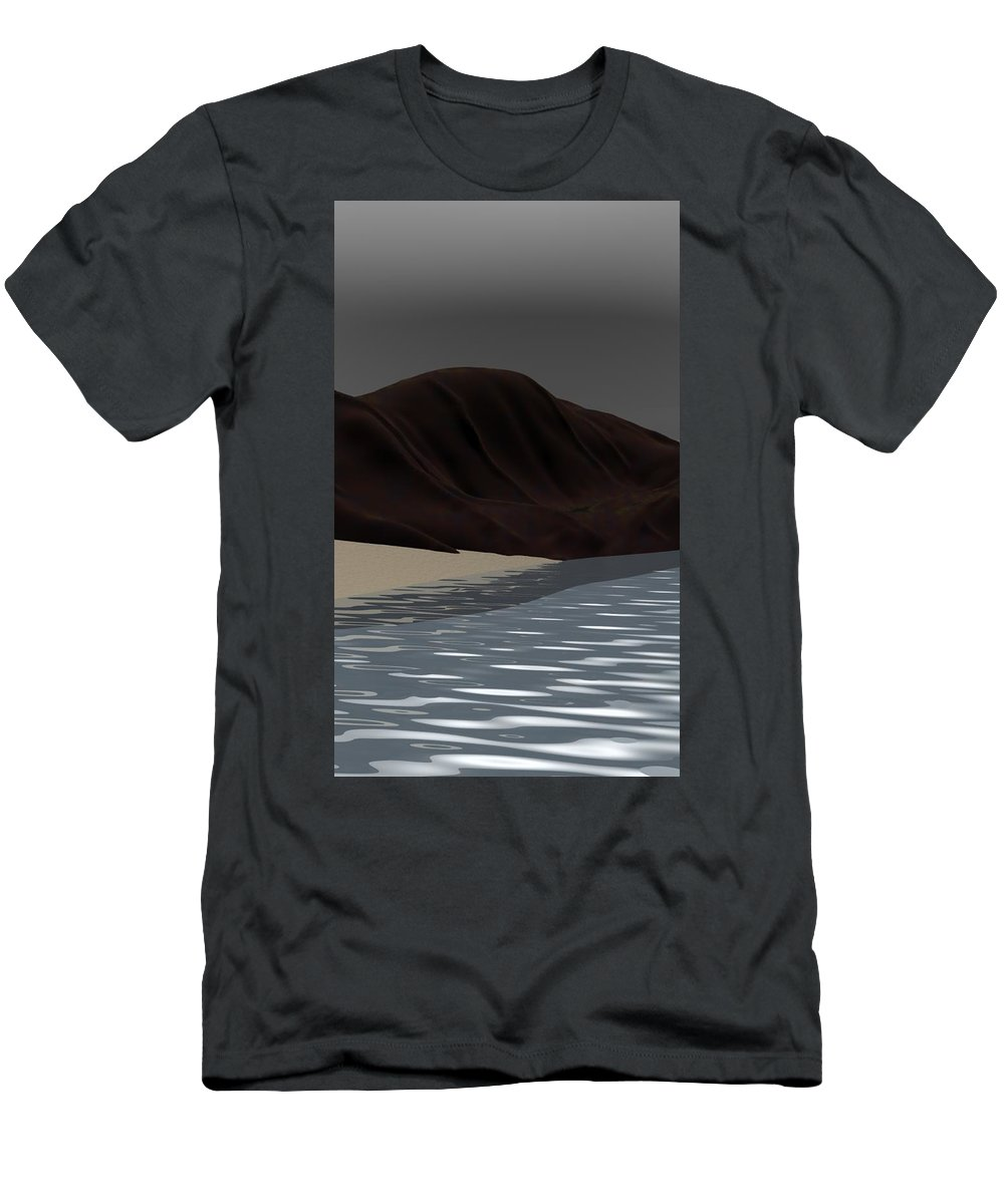 Abstract Men's T-Shirt (Athletic Fit) featuring the digital art Emotion by David Lane