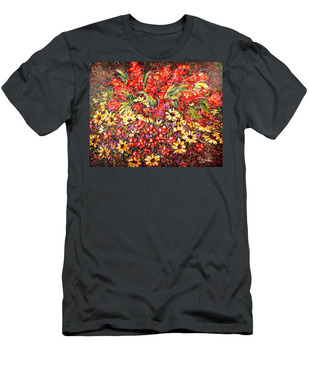 My Garden Men's T-Shirt (Athletic Fit) featuring the painting Enchanted Garden by Natalie Holland