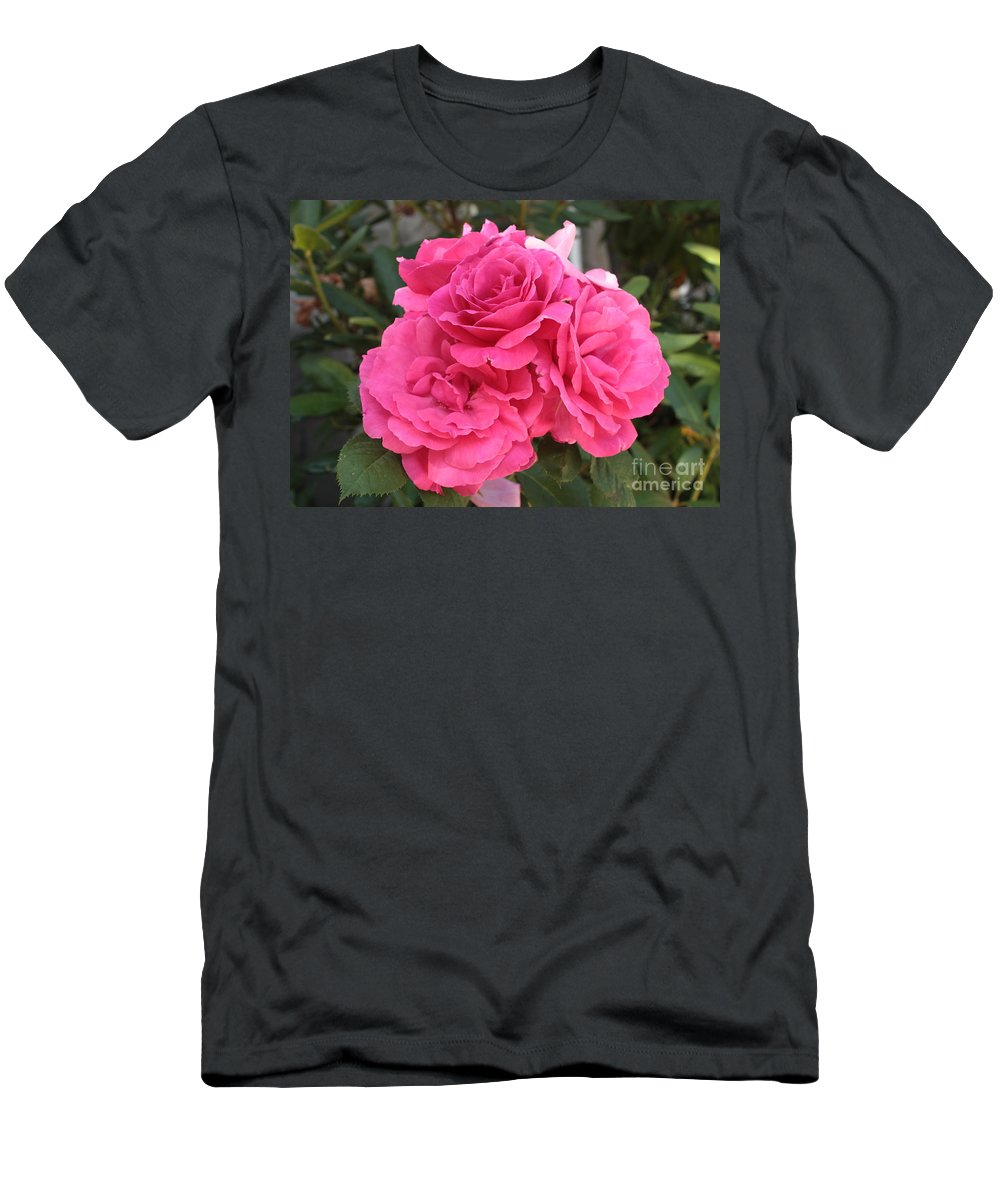 Pink Men's T-Shirt (Athletic Fit) featuring the photograph Energizing Pink Roses by Carol Groenen