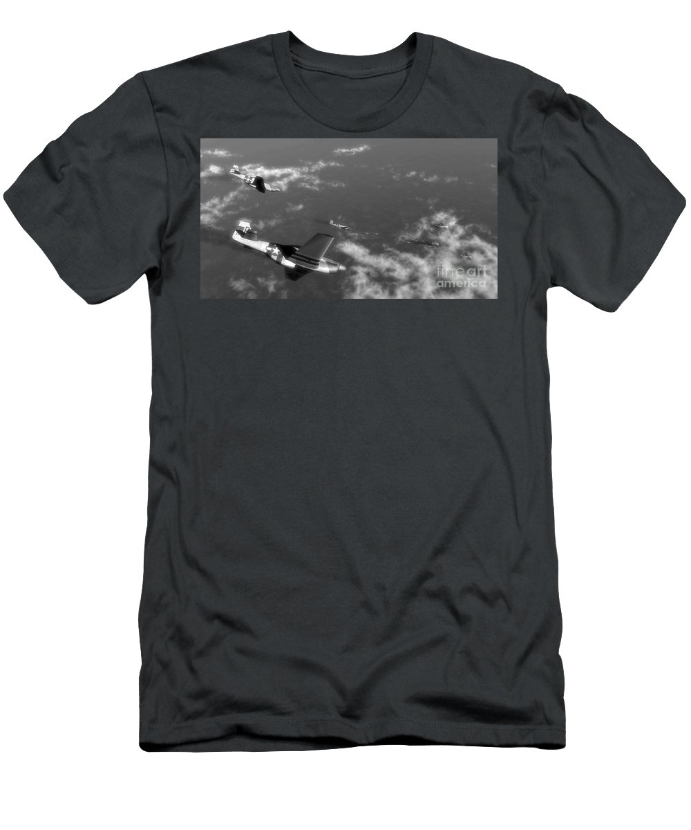 Aviation Men's T-Shirt (Athletic Fit) featuring the digital art Engagement Party by Richard Rizzo