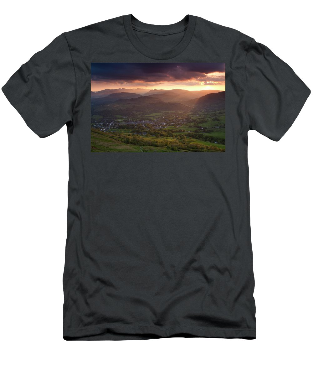 Men's T-Shirt (Athletic Fit) featuring the photograph England, Cumbria, Lake District National Park by Jason Friend