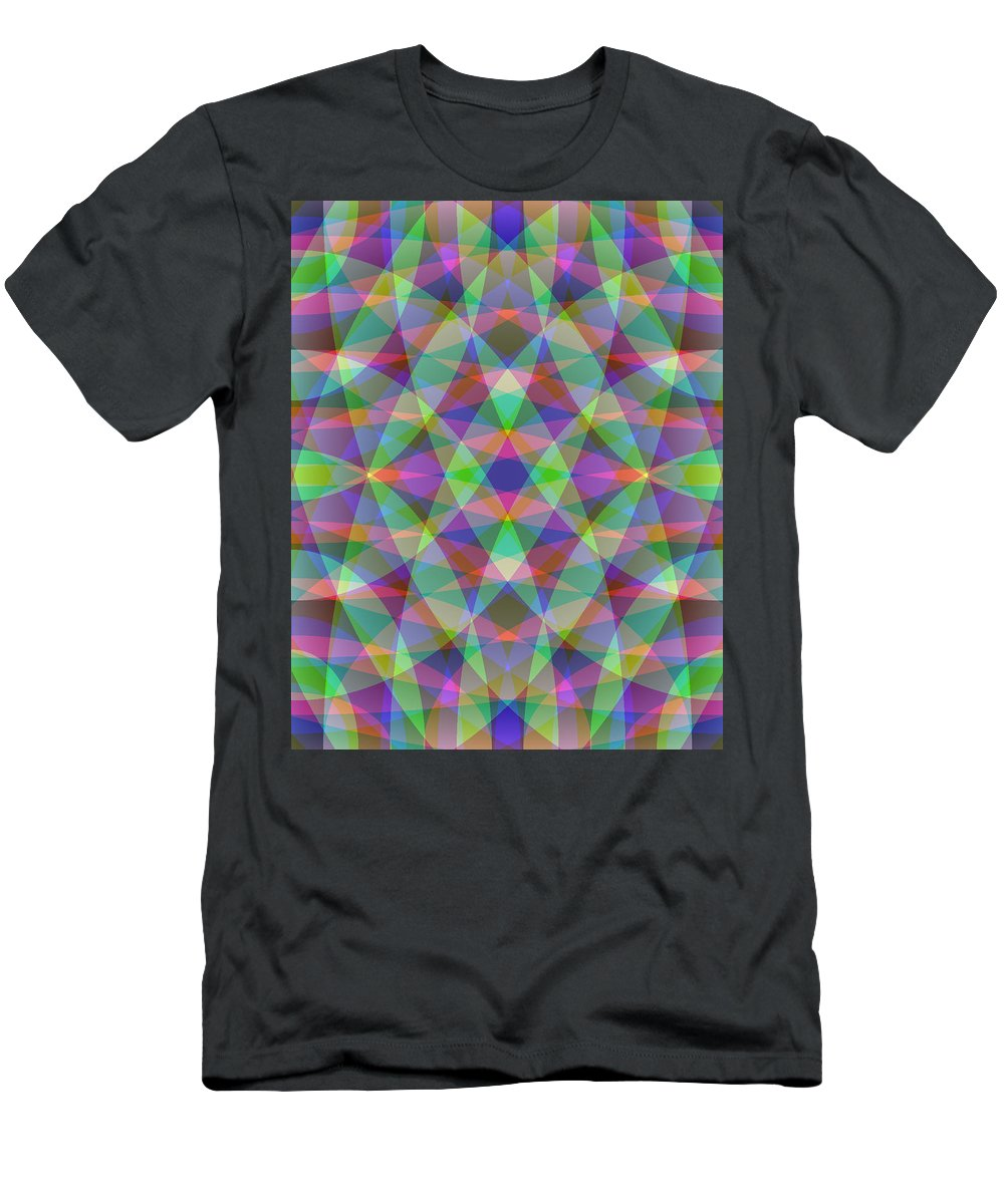 Electronic Men's T-Shirt (Athletic Fit) featuring the digital art Entangled Curves Three by Joel Kahn