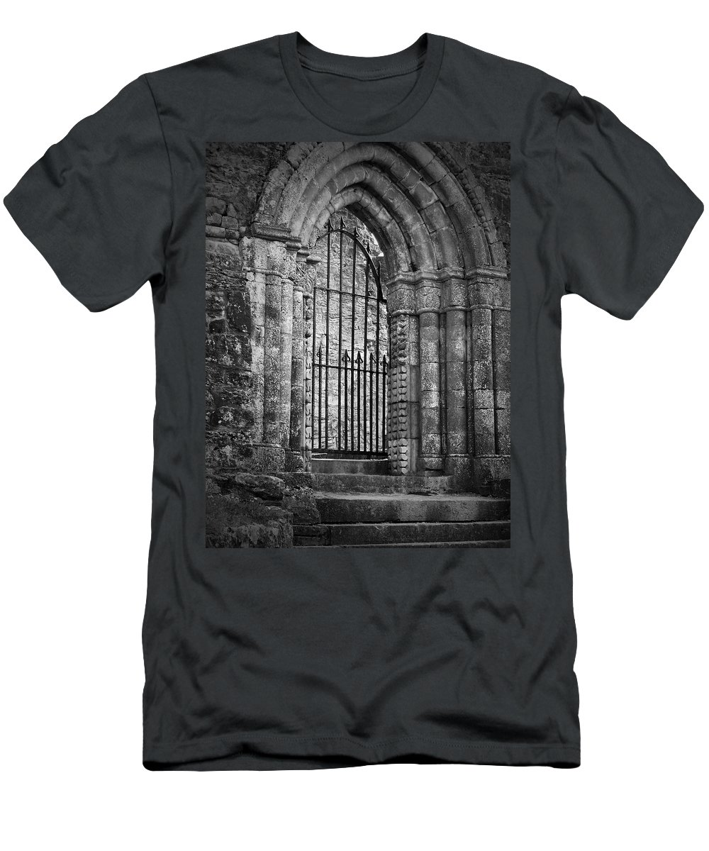 Irish Men's T-Shirt (Athletic Fit) featuring the photograph Entrance To Cong Abbey Cong Ireland by Teresa Mucha