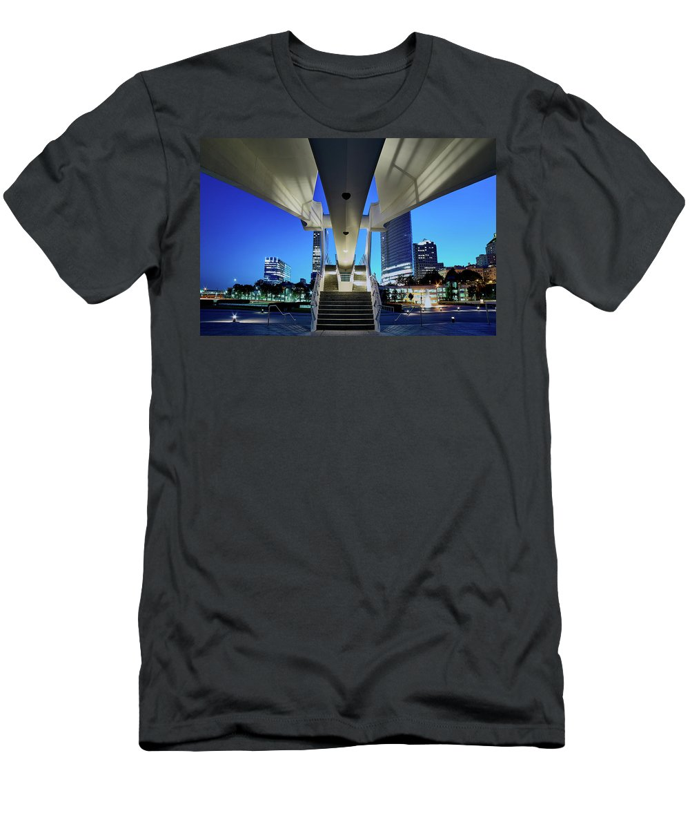 Www.cjschmit.com Men's T-Shirt (Athletic Fit) featuring the photograph Entry To The City by CJ Schmit
