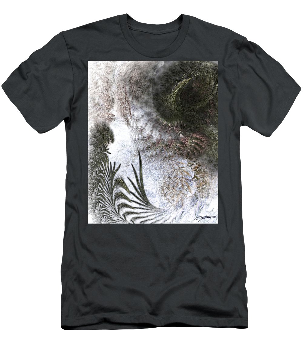 Abstract Men's T-Shirt (Athletic Fit) featuring the digital art Environmental Transitions by Casey Kotas