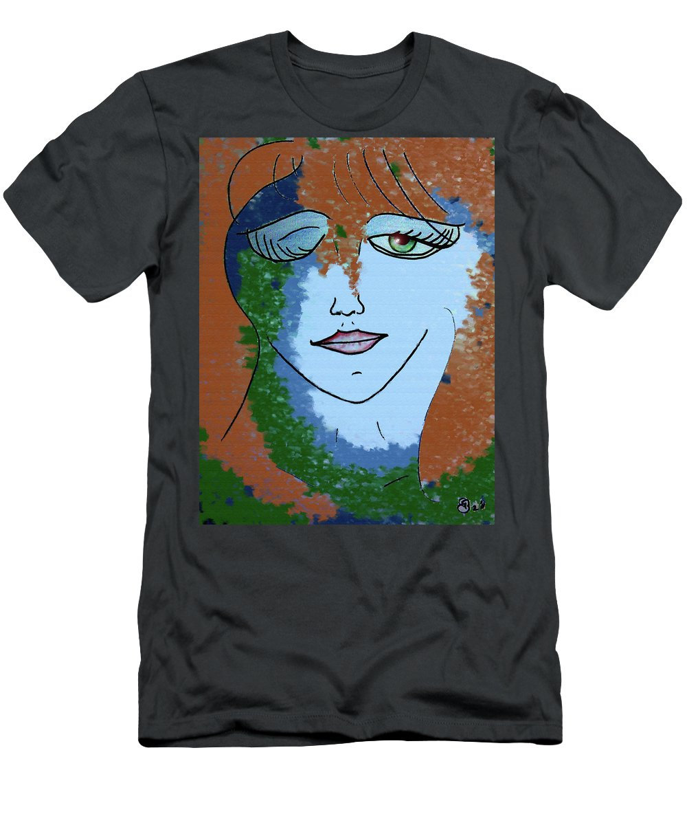 Woman Men's T-Shirt (Athletic Fit) featuring the digital art Envy by Donna Blackhall