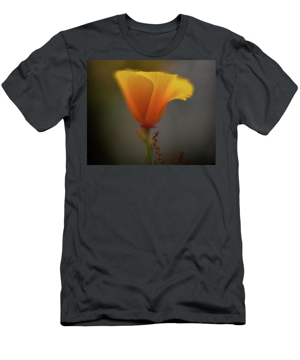 Poppy Men's T-Shirt (Athletic Fit) featuring the photograph Ephemeral Poppy by Mike Reid