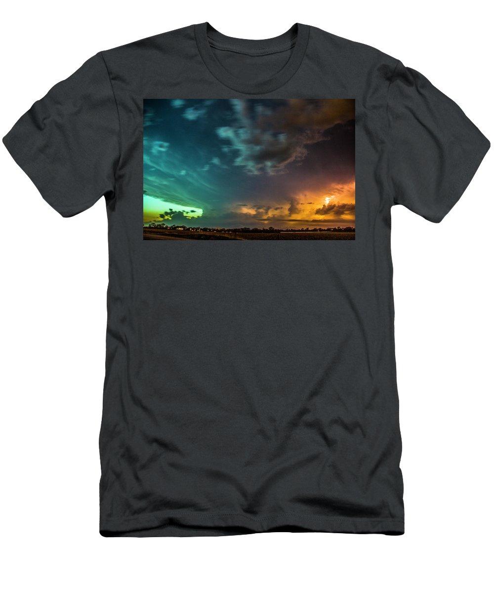 Nebraskasc Men's T-Shirt (Athletic Fit) featuring the photograph Epic Nebraska Lightning 008 by NebraskaSC
