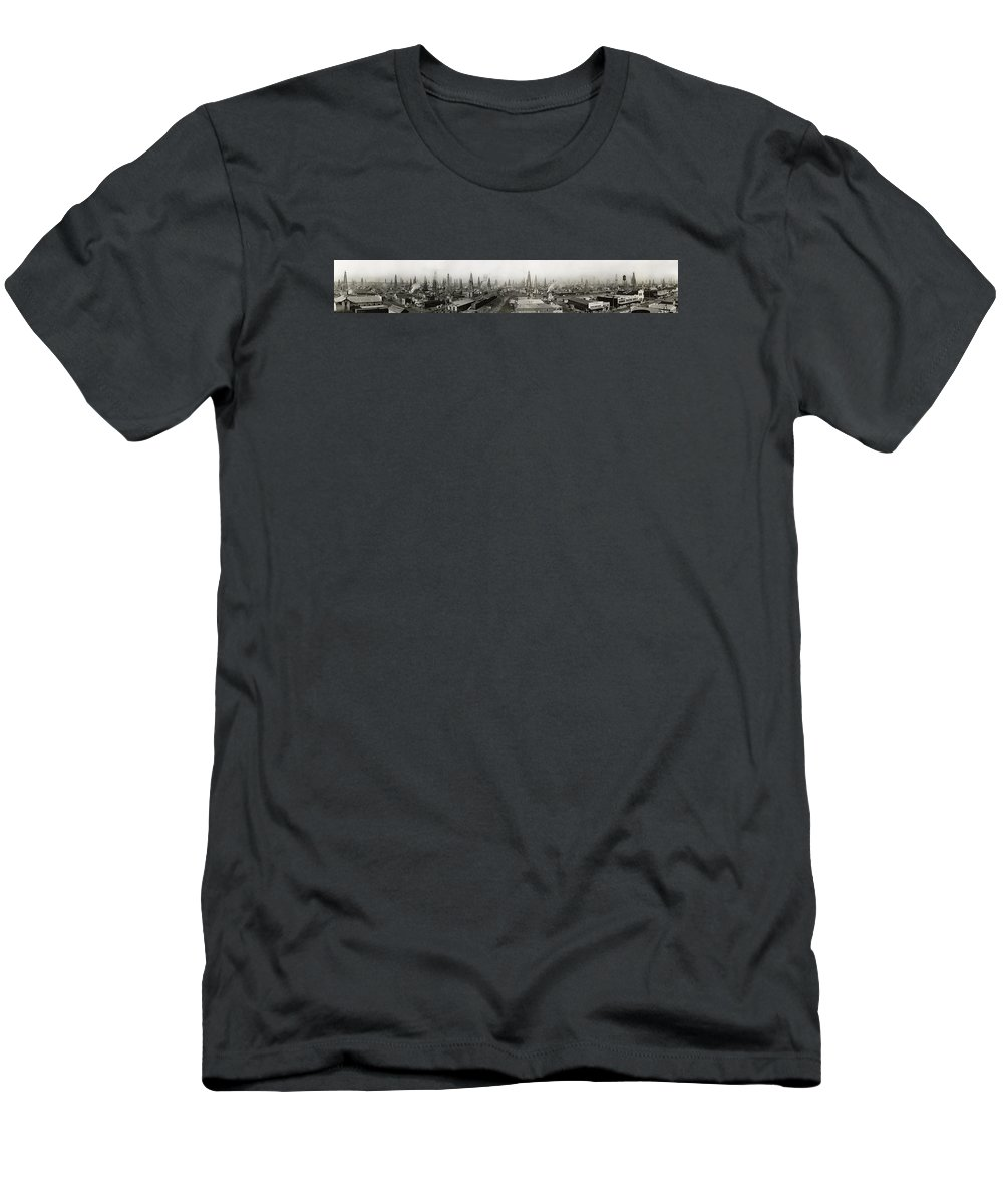 Oil Men's T-Shirt (Athletic Fit) featuring the photograph Epic Texas 1919 by Daniel Hagerman