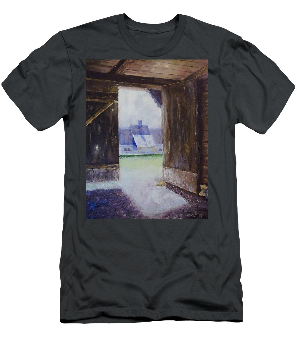 Shed Men's T-Shirt (Athletic Fit) featuring the painting Escape The Sun by Stephen King