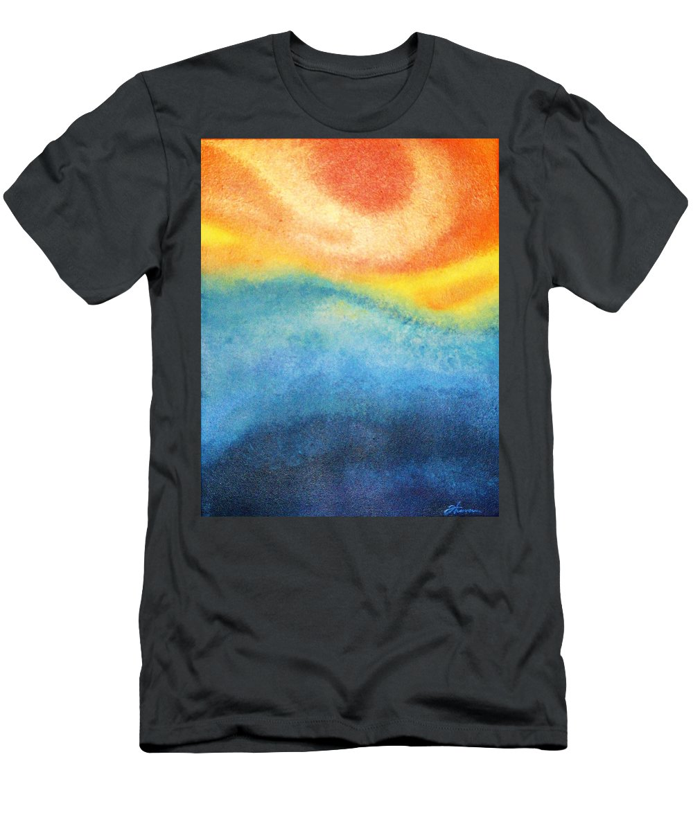 Escape Men's T-Shirt (Athletic Fit) featuring the painting Escape by Todd Hoover