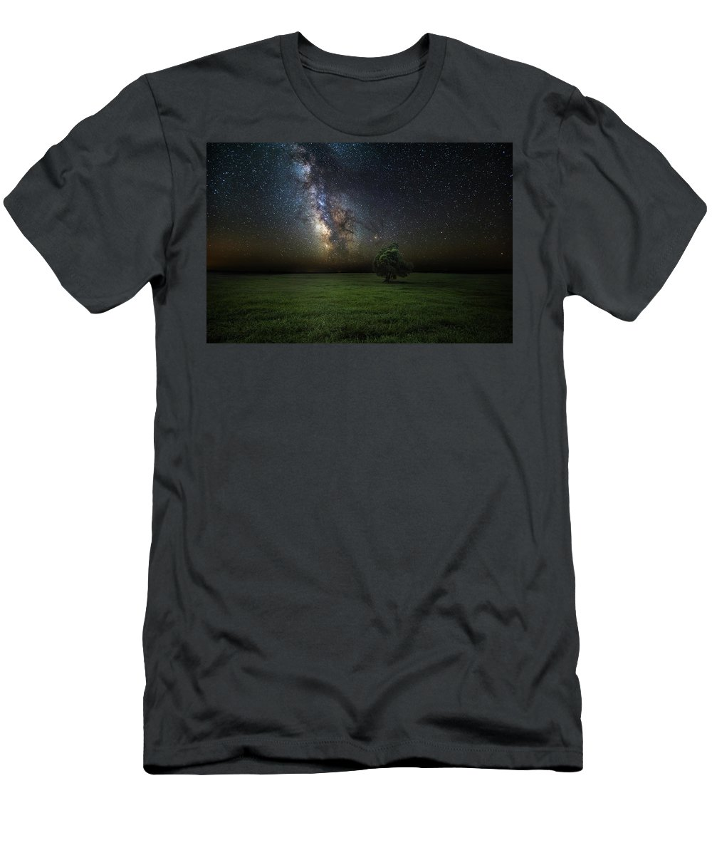 Milky Way Men's T-Shirt (Athletic Fit) featuring the photograph Eternity by Aaron J Groen