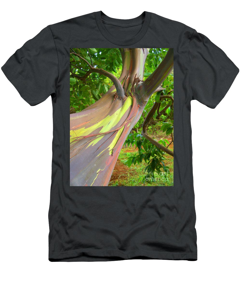 Background Men's T-Shirt (Athletic Fit) featuring the photograph Eucalyptus Tree by Ron Dahlquist - Printscapes