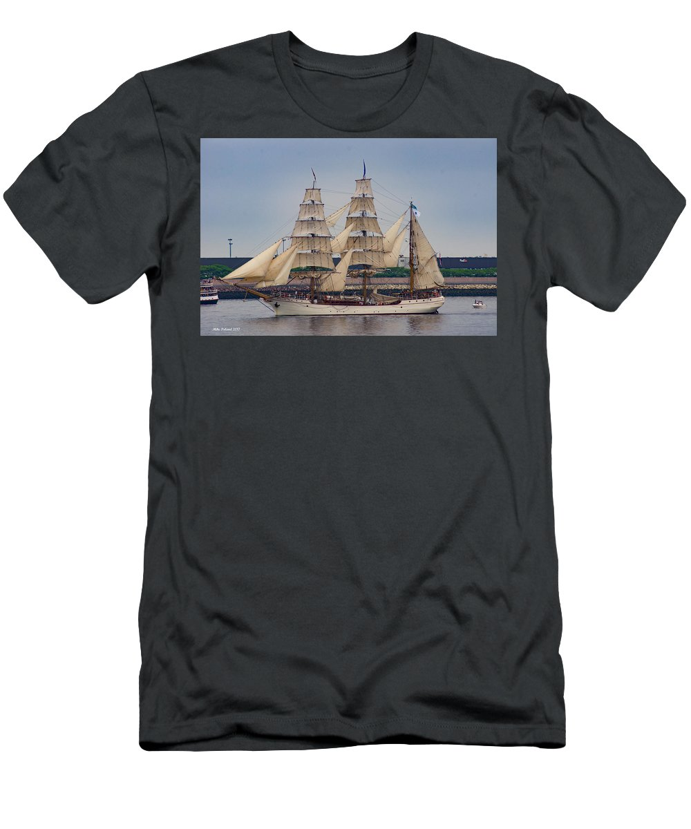 Tall Ship Men's T-Shirt (Athletic Fit) featuring the photograph Europa.. Netherlands by Mike Poland