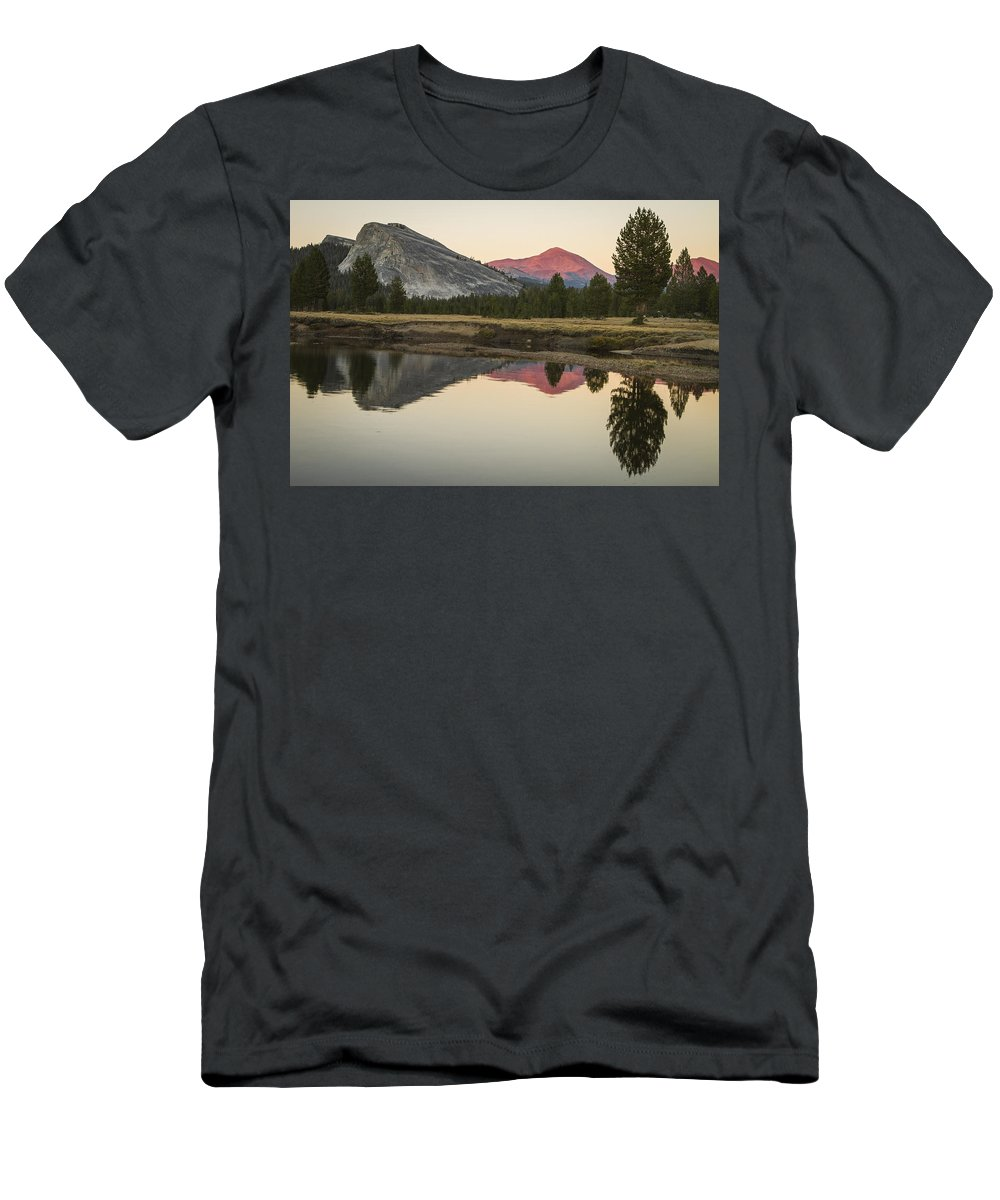 Tuolumne Meadows Men's T-Shirt (Athletic Fit) featuring the photograph Evening Alpenglow by Duncan Selby