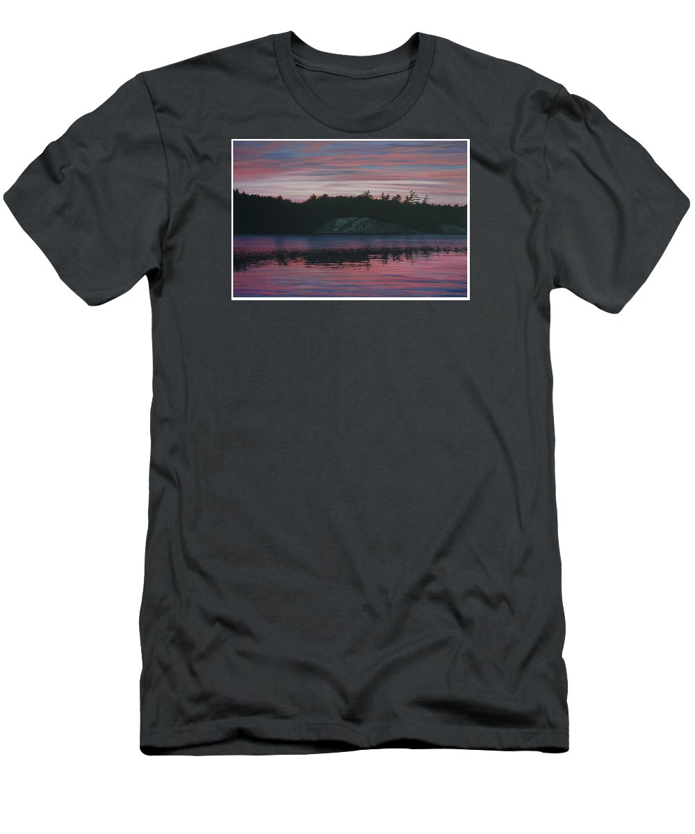 Landscape Men's T-Shirt (Athletic Fit) featuring the painting Evening In La Cloche by Jan Lyons