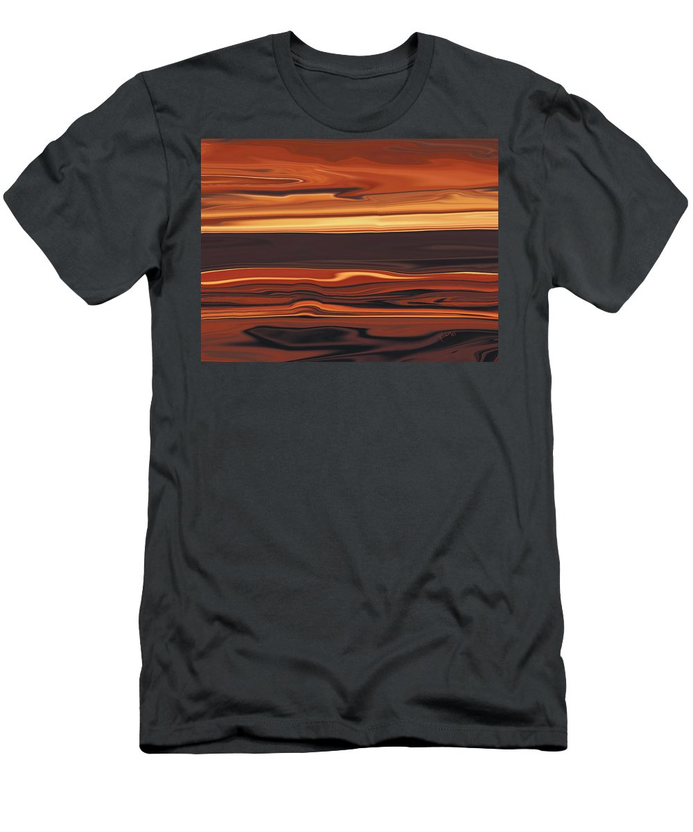 Abstract Men's T-Shirt (Athletic Fit) featuring the digital art Evening In Ottawa Valley 1 by Rabi Khan