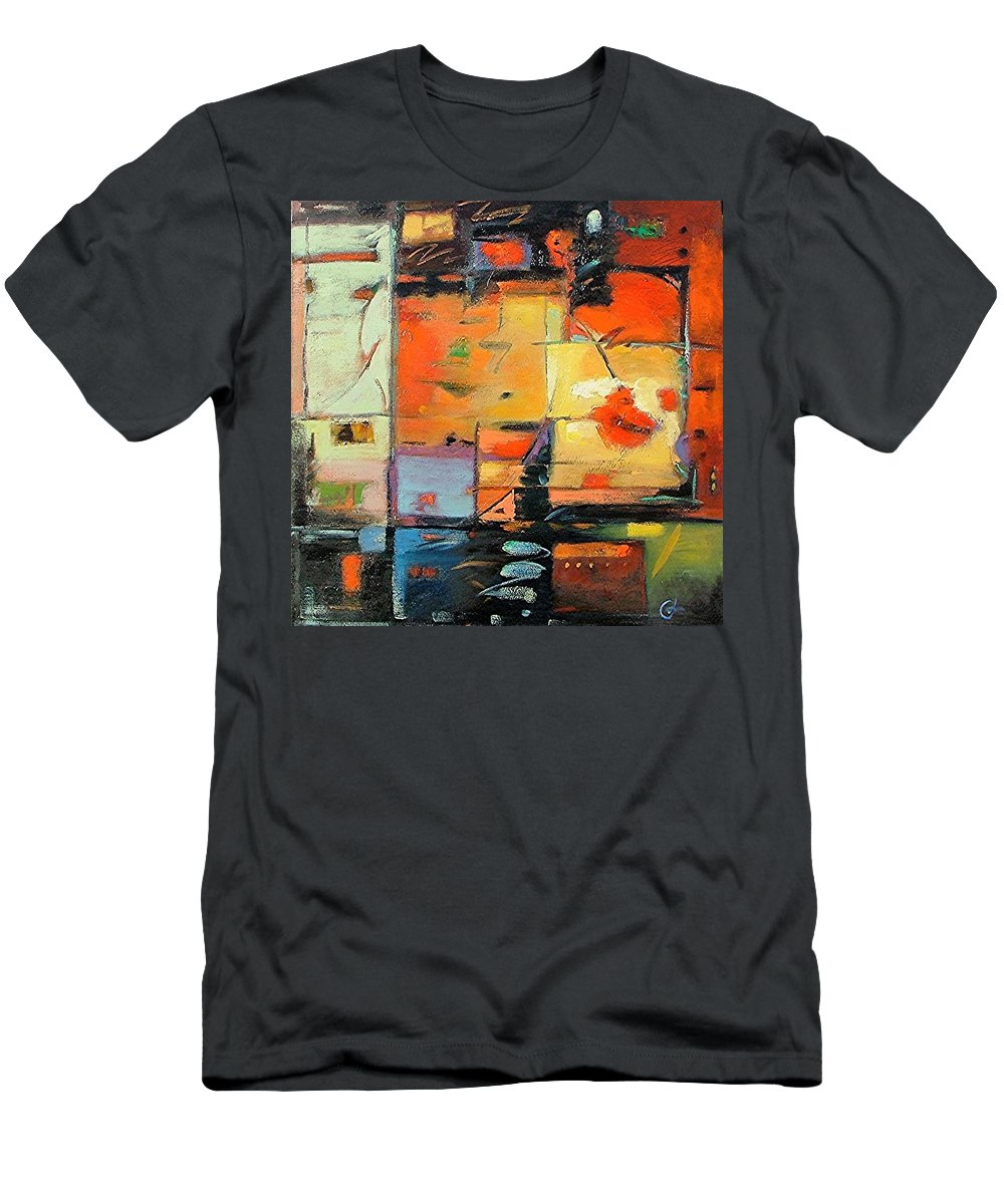 Abstract Painting Men's T-Shirt (Athletic Fit) featuring the painting Evening Light by Gary Coleman